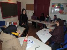 Perfectionnement de français organisé par TM Titres Services avec le centre social du beguinage